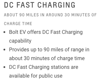 Chevy Bolt-DC Fast Charging