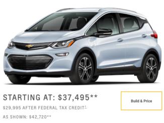 Chevy Bolt-starting price