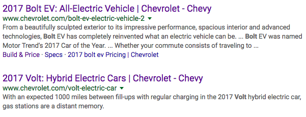 Google Search Results - Chevrolet Bolt-Volt