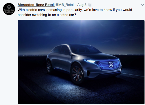 Mercedes-Benz Retail Tweet