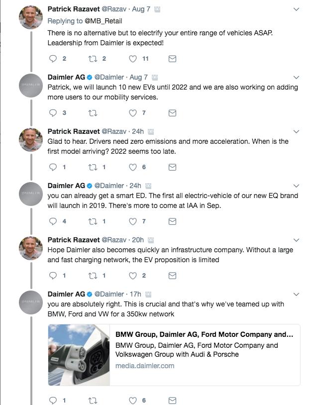 Mercdes-Benz Tweet - initial conversation