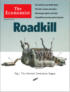 The Economist cover - Roadkill- End of the Internal Combustion Engine