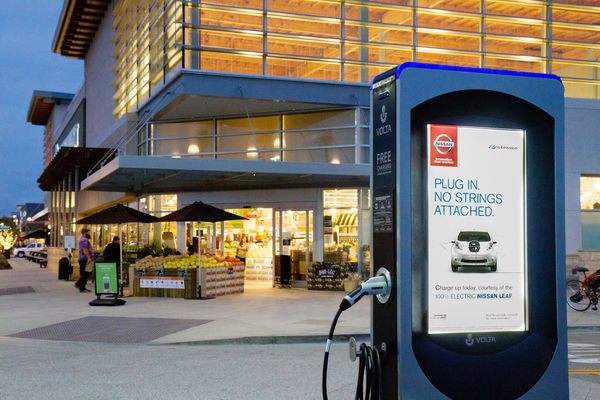 Volta Charging EV charging advertising network