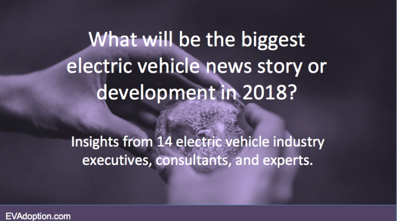 What will be the biggest EV story in 2018 - SlideShare title slide