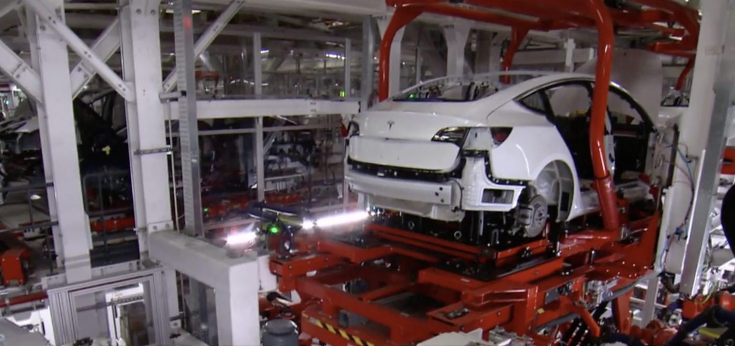 Tesla Model 3 Fremont Factory assembly