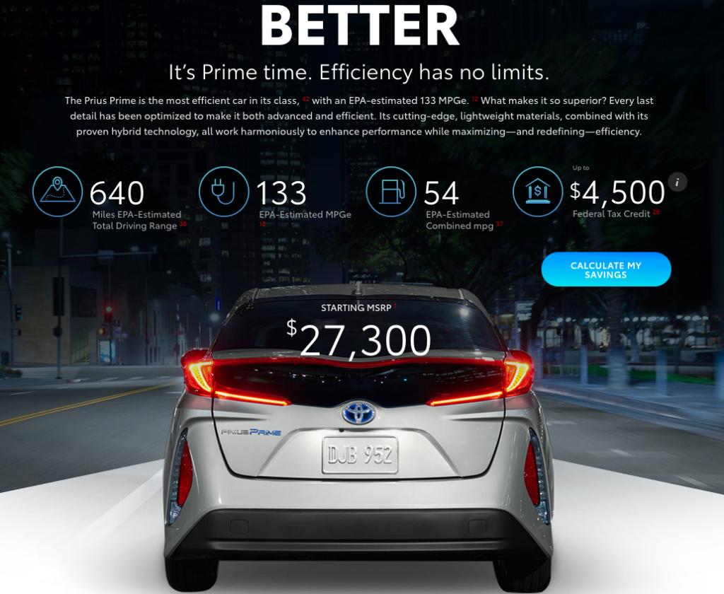 Toyota Prius Prime - website-specs-photo