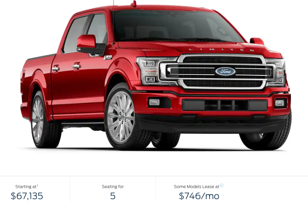 Ford F-150 Limited $67135
