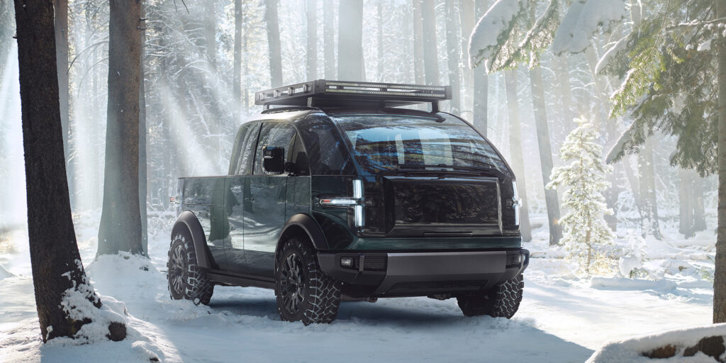 Canoo-Pickup-Front-Snow